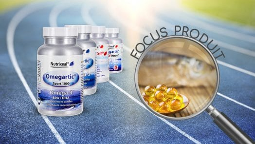Focus produit sur les omega-3 de la gamme Omegartic Nutrixeal.