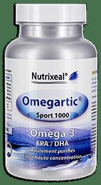 Omegartic Sport 1000 nutrixeal contient des omega-3 ultra concentrés.