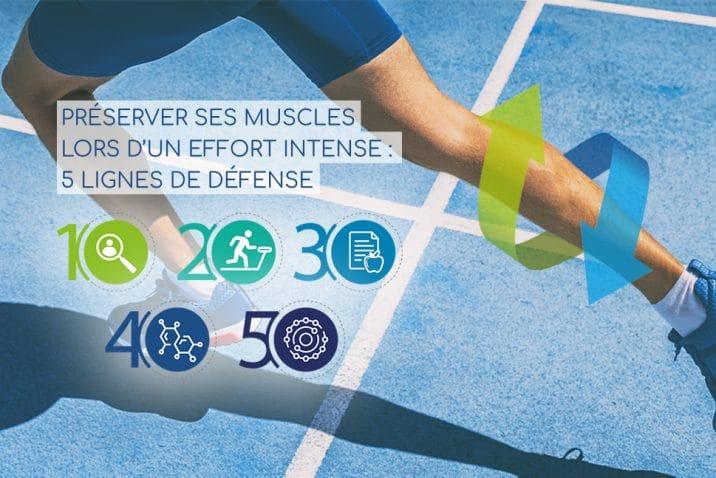 Conseils pratiques et nutritionnels pour préserver ses muscles lors d'un effort intense.