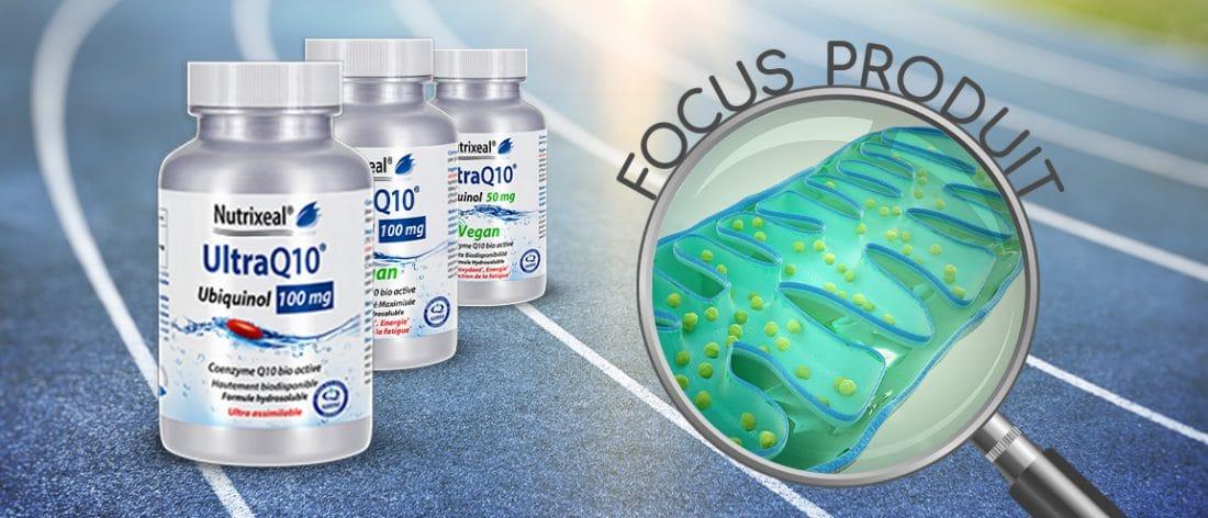 Focus produit sur la gamme UltraQ10 ubiquinol Nutrixeal.